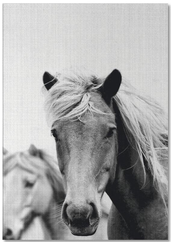 Pferde, Schwarz & Weiß, Print 180 -Notizblock