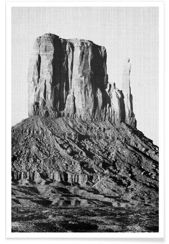 Noir & blanc, Déserts, Print 98 affiche