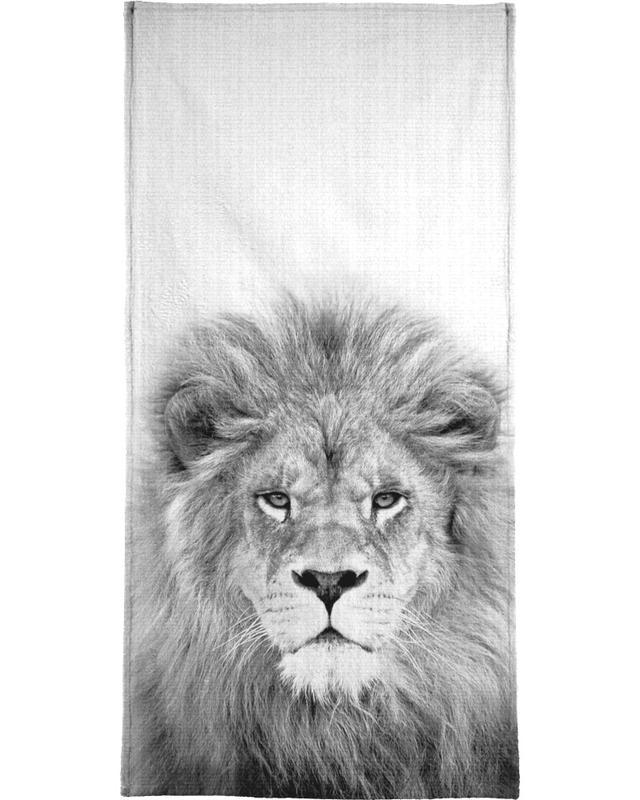 Art pour enfants, Lions, Noir & blanc, Lion serviette de bain