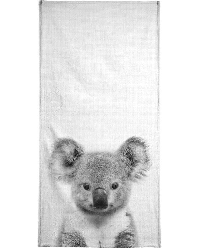 Art pour enfants, Koalas, Noir & blanc, Print 67 serviette de bain
