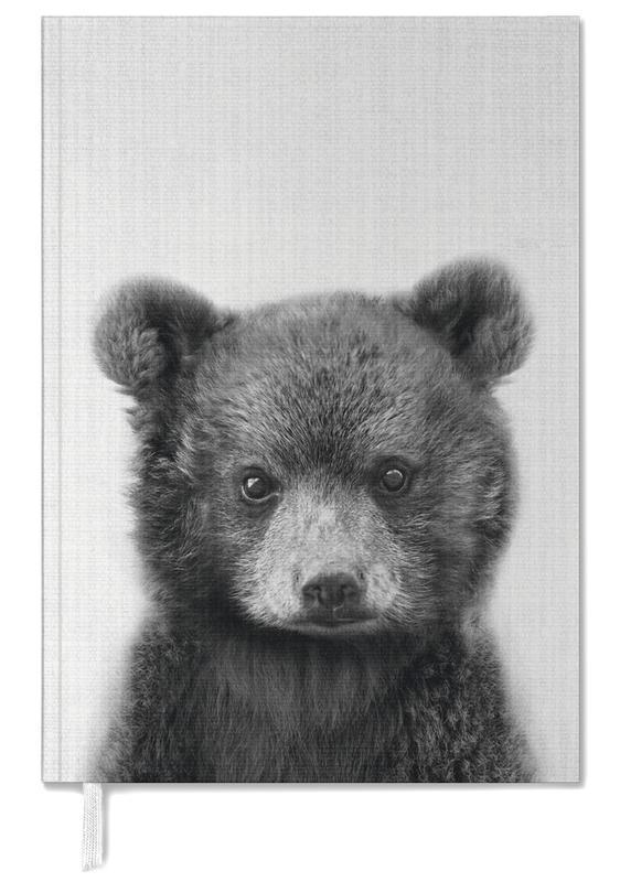 Ours, Noir & blanc, Art pour enfants, Print 287 agenda