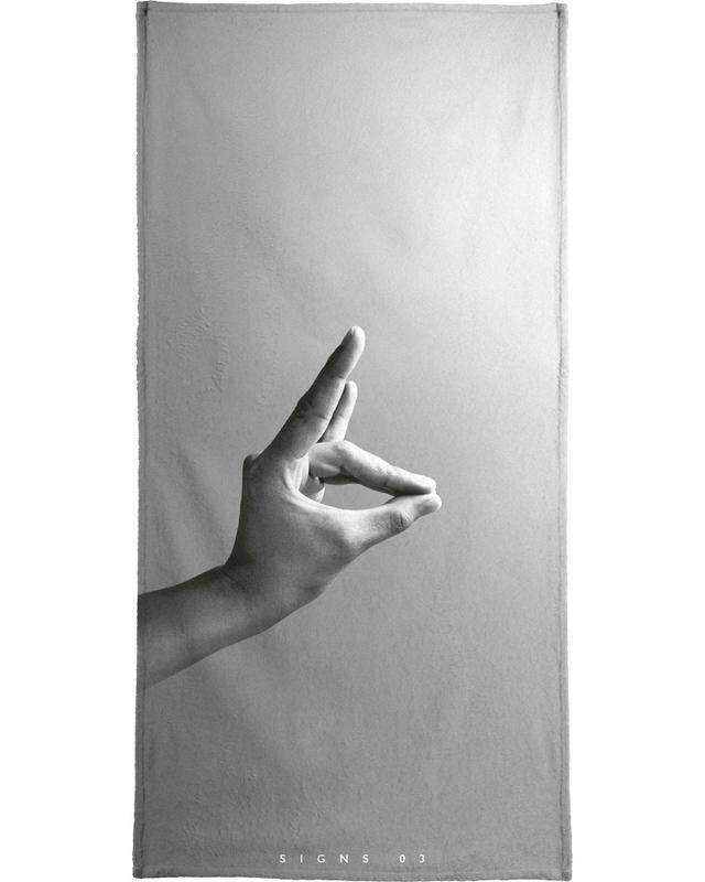 Noir & blanc, Détails corporels, Signs  03 serviette de bain