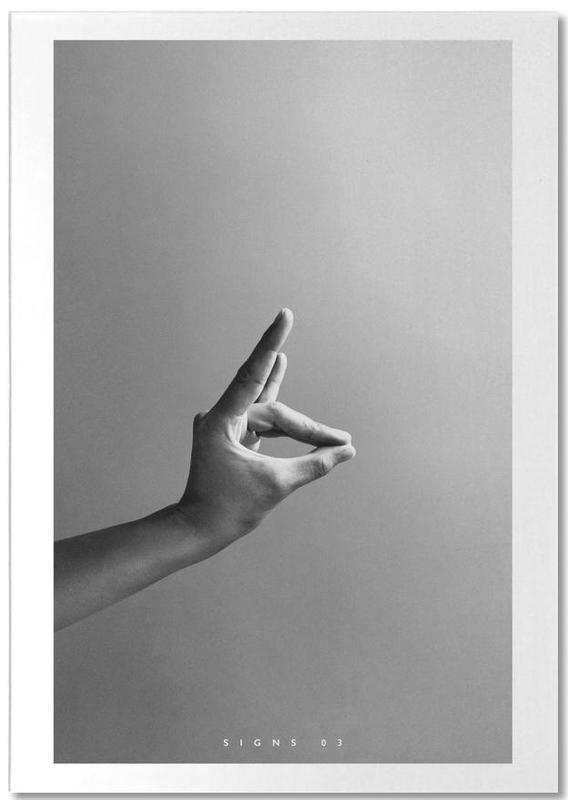 Noir & blanc, Détails corporels, Signs  03 bloc-notes