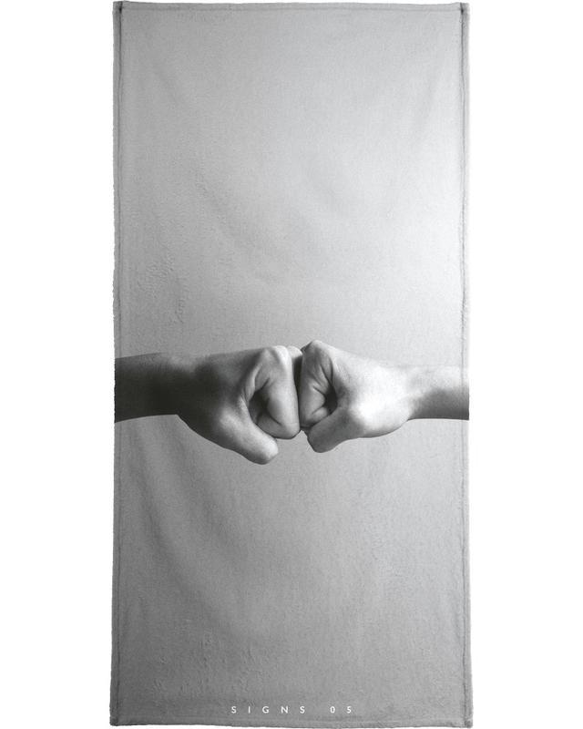 Félicitations, Détails corporels, Noir & blanc, Signs  05 serviette de bain