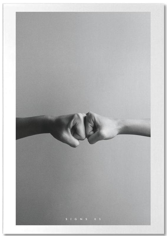 Détails corporels, Félicitations, Noir & blanc, Signs  05 bloc-notes