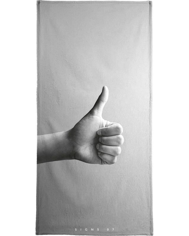 Félicitations, Détails corporels, Noir & blanc, Signs  07 serviette de bain