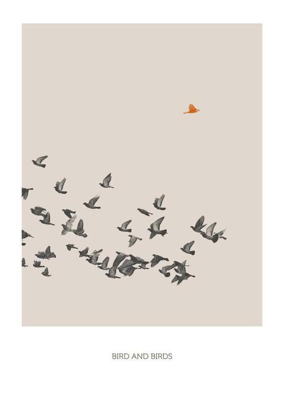 Bird And Birds -Leinwandbild
