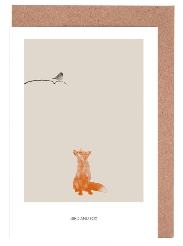 Bird And Fox -Grußkarten-Set