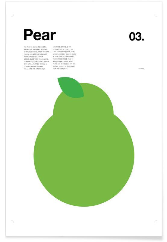 Pears, Minimalist Pear Poster