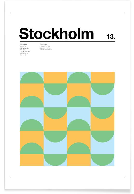 Stockholm, Stockholm minimaliste affiche