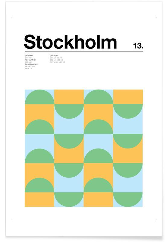 Minimalist Stockholm Poster