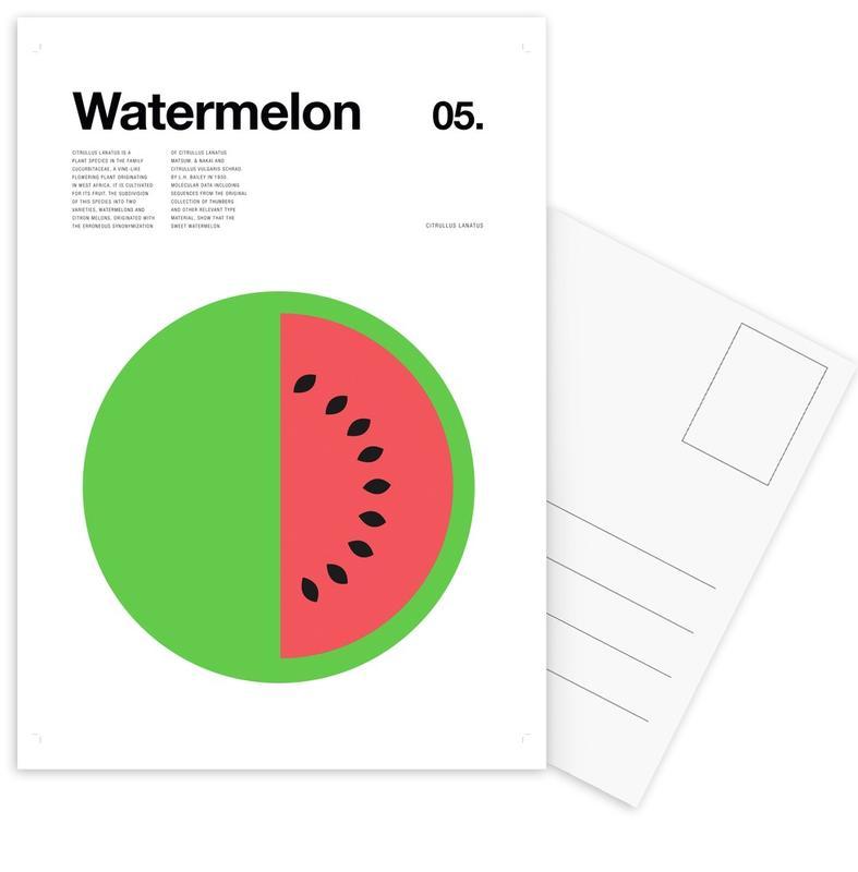 Watermelon Postcard Set