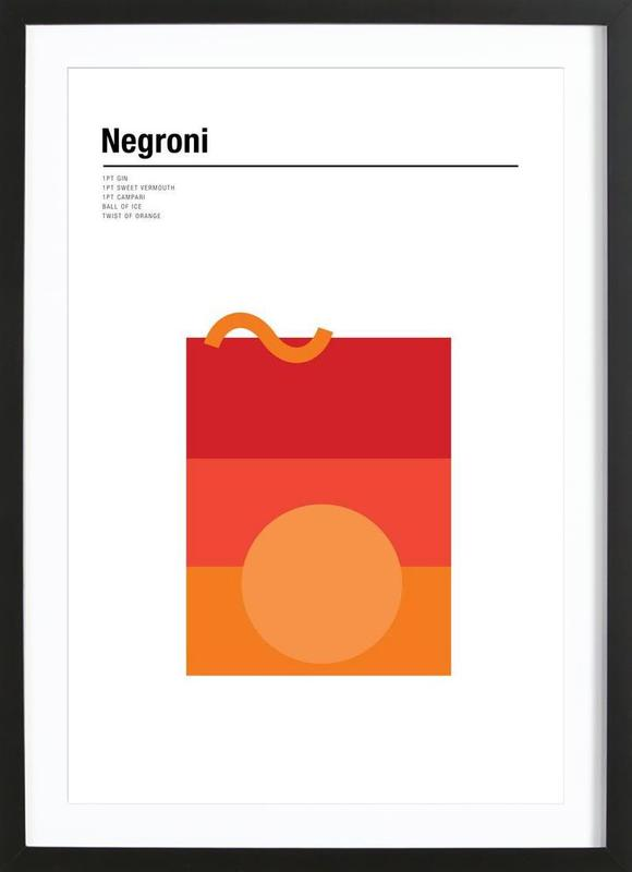 Negroni Poster i träram