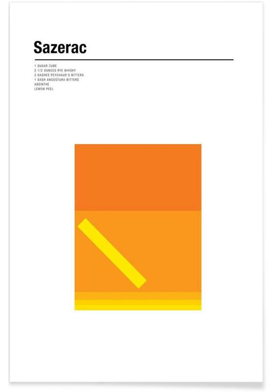 Cocktails, Sazerac - Minimaliste affiche