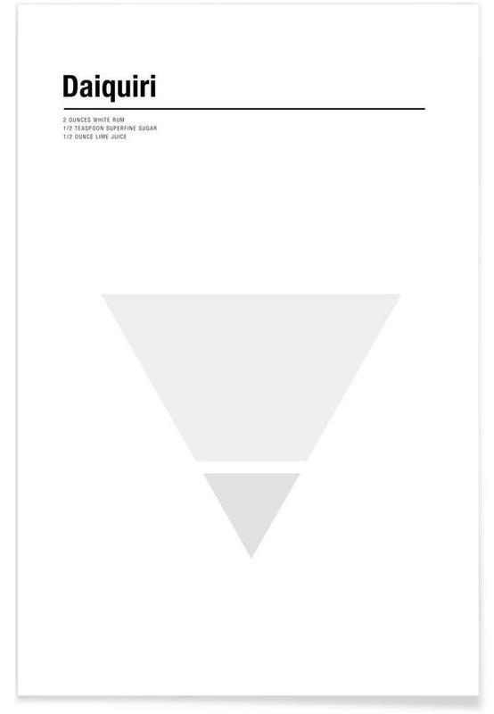 Cocktails, Minimalist Daiquiri Plakat