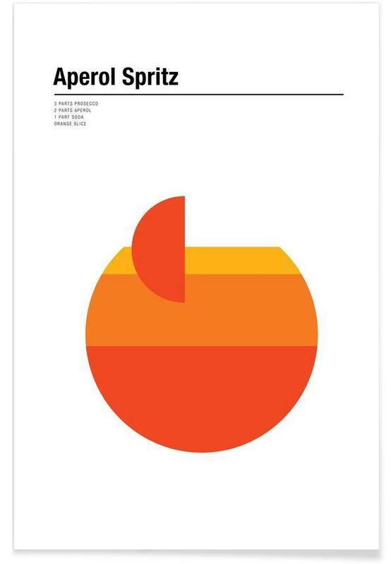 Aperol Spritz - Minimaliste affiche