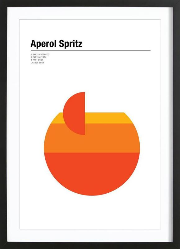 Aperol Spritz affiche sous cadre en bois