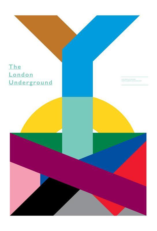 London Underground tableau en verre