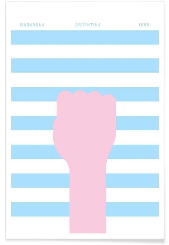 Fußball, Maradona 1986 -Poster