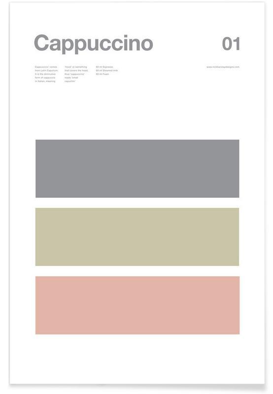 Kaffee, Cappuccino – minimalistisch -Poster