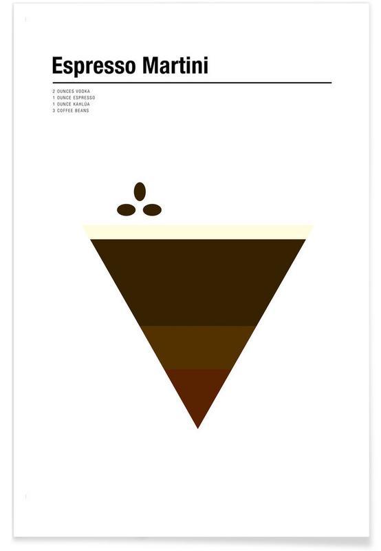 Kaffee, Espresso Martini – minimalistisch -Poster