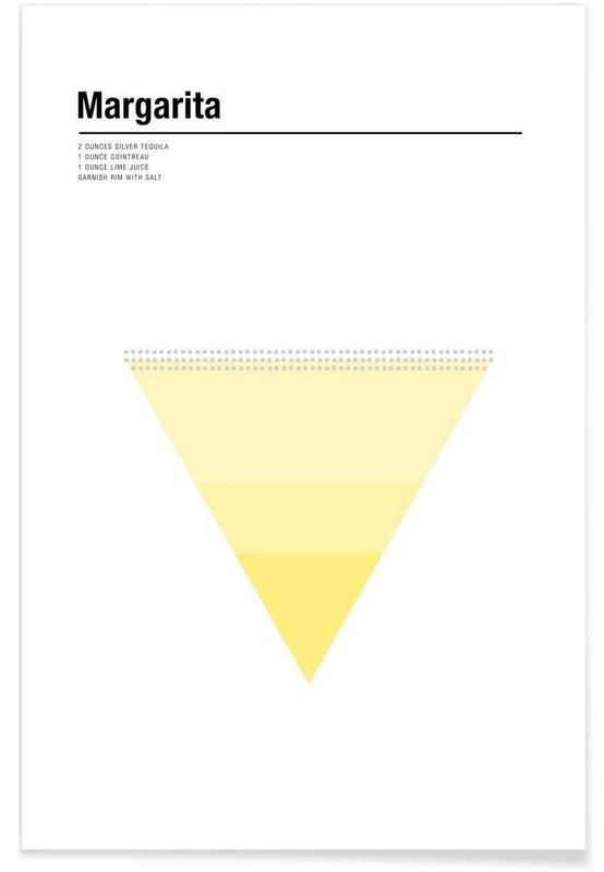 Cocktails, Minimalist Margarita Poster