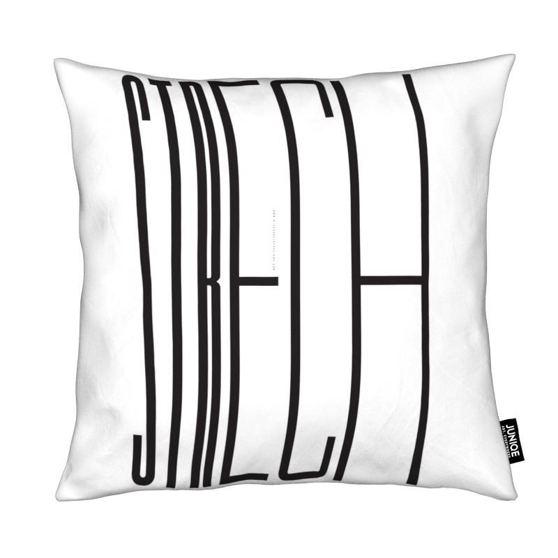 Noir & blanc, Citations et slogans, Strech coussin
