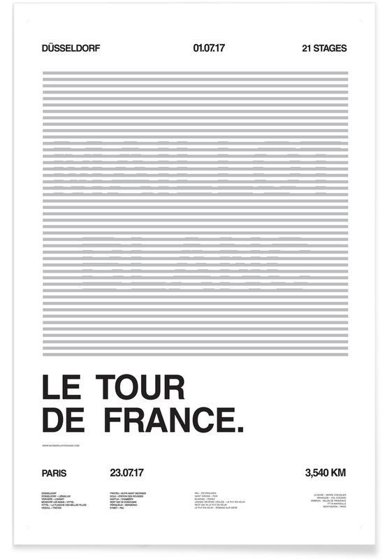 Zwart en wit, Wielersport, Maillot Blanc poster