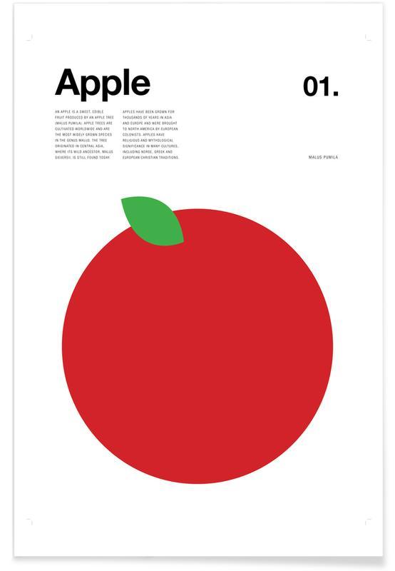 Appels, Appel - minimalistisch poster