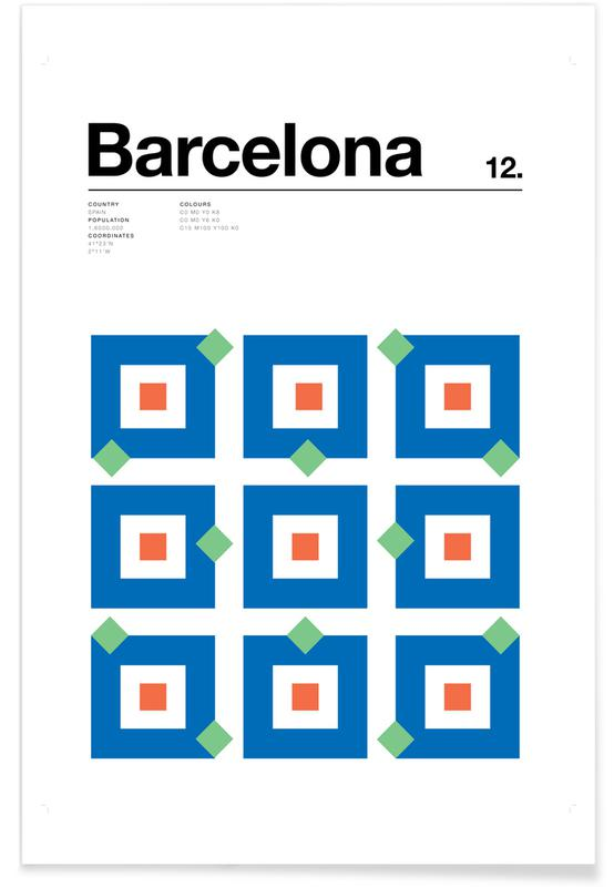 Barcelone minimaliste affiche