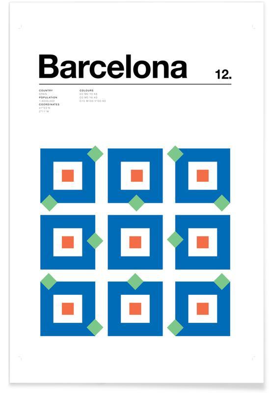 Barcelona – minimalistisch -Poster