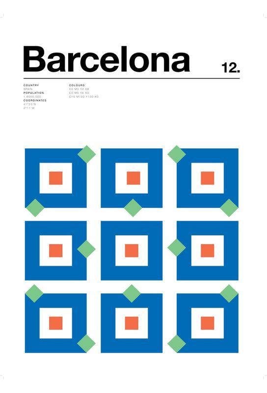 Barcelona tableau en verre