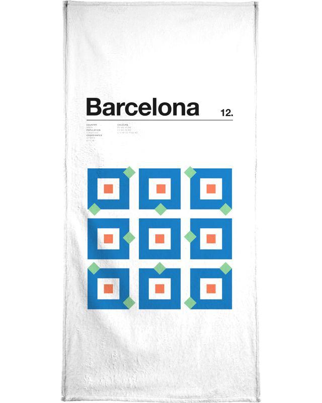 Barcelone, Barcelona serviette de plage
