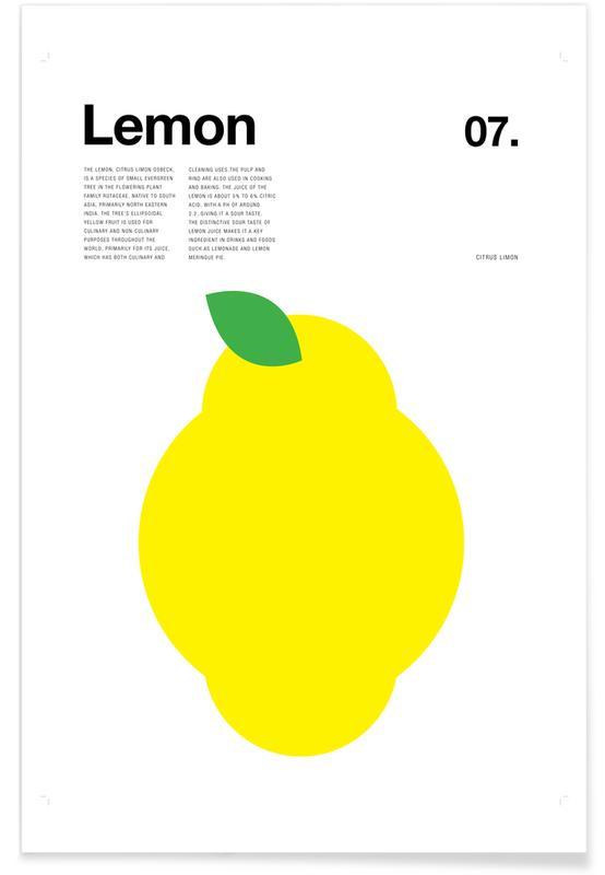 Zitrone – minimalistisch -Poster