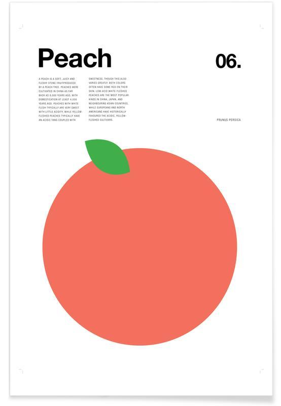 Minimalist Peach Poster