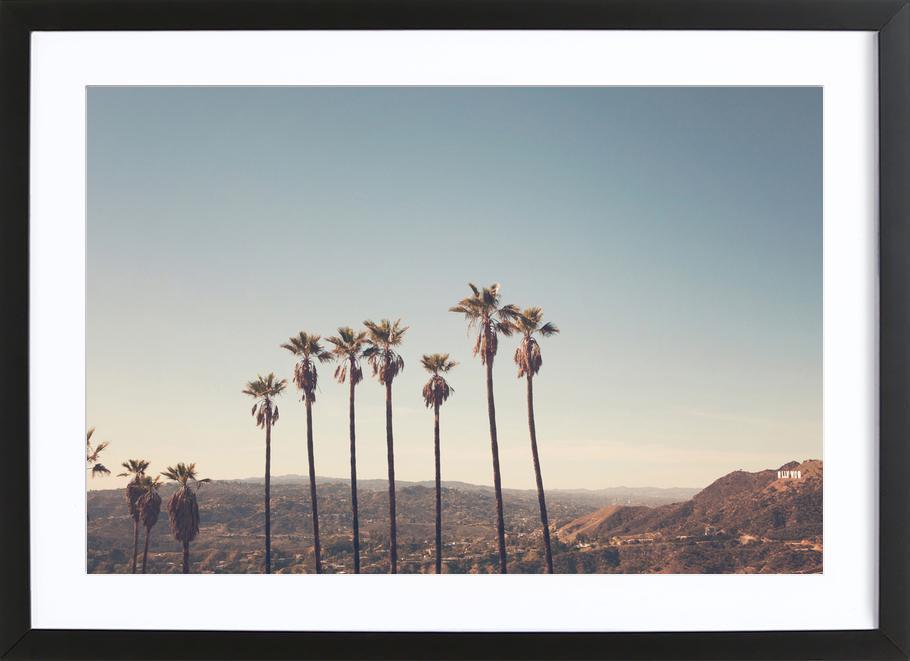 Hollywood Hills -Bild mit Holzrahmen