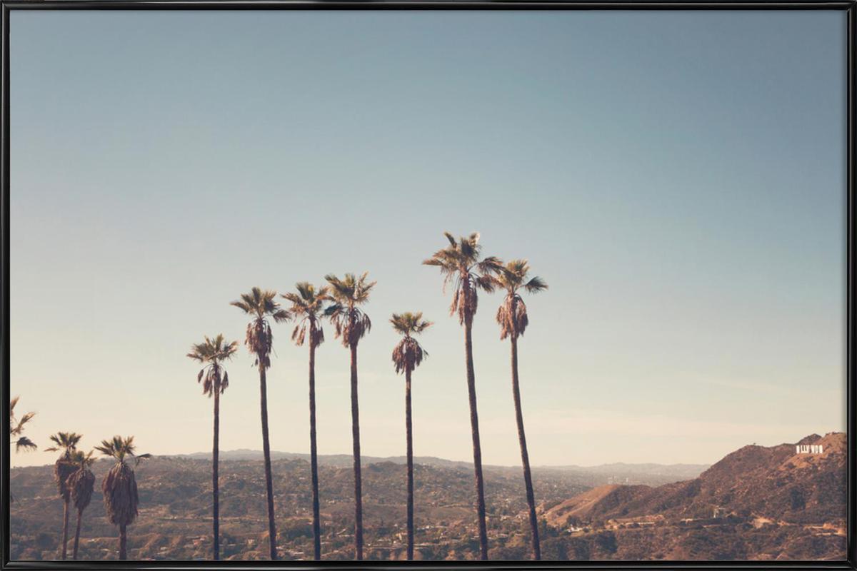 Hollywood Hills -Bild mit Kunststoffrahmen