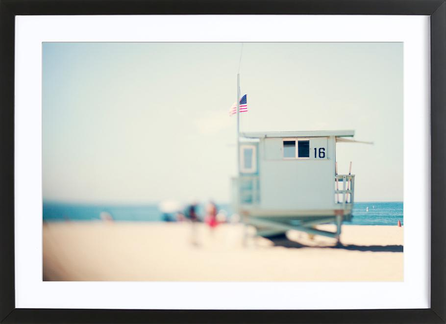 Beach House -Bild mit Holzrahmen