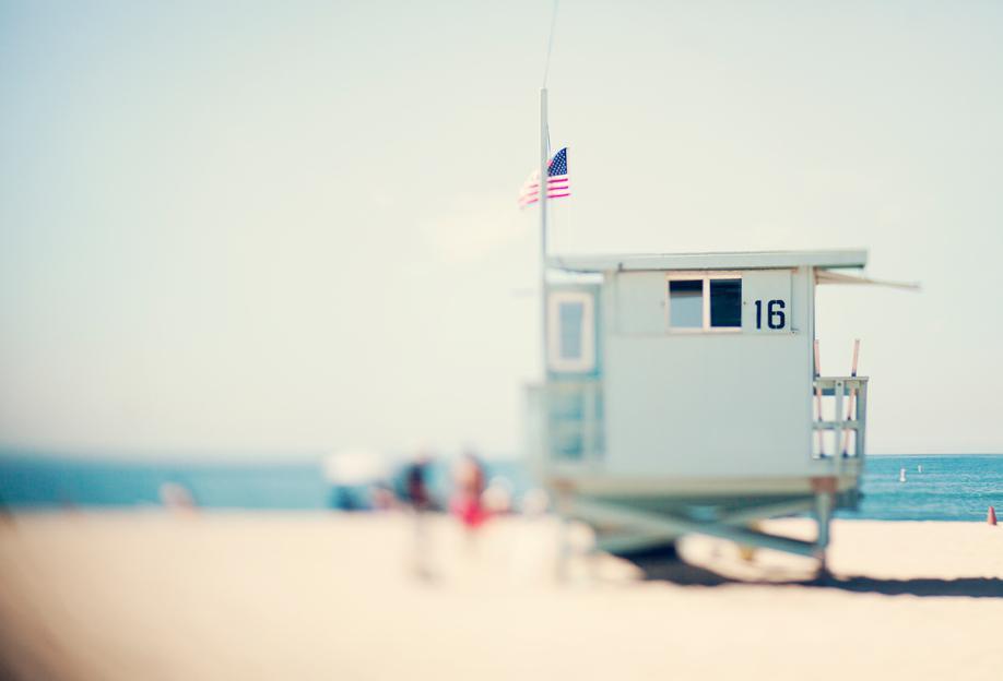Beach House Aluminium Print