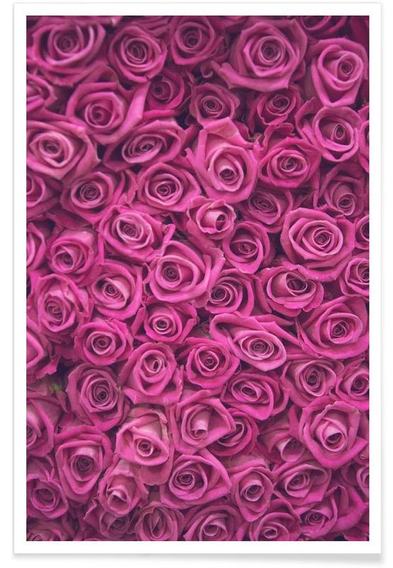 Rozen, Foto van roze rozen poster