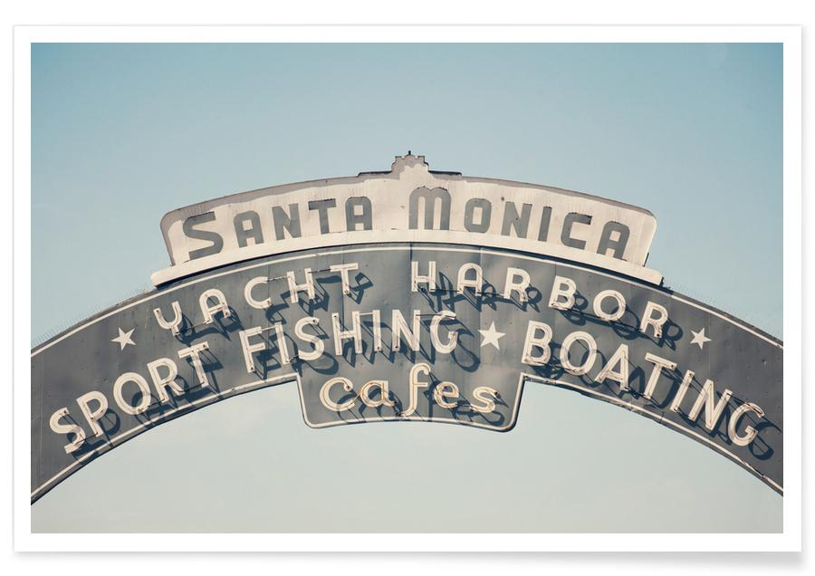 Architekturdetails, Santa Monica-Fotografie -Poster