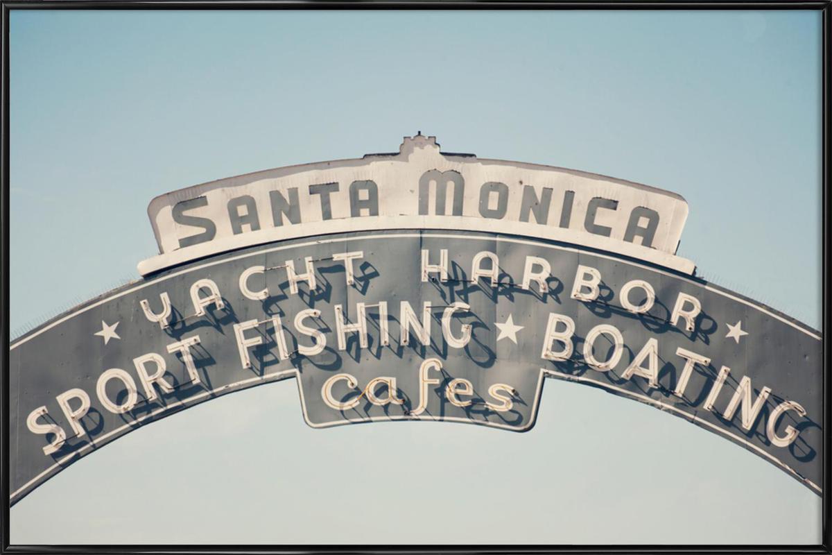 Santa Monica -Bild mit Kunststoffrahmen