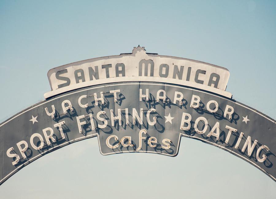 Santa Monica -Leinwandbild