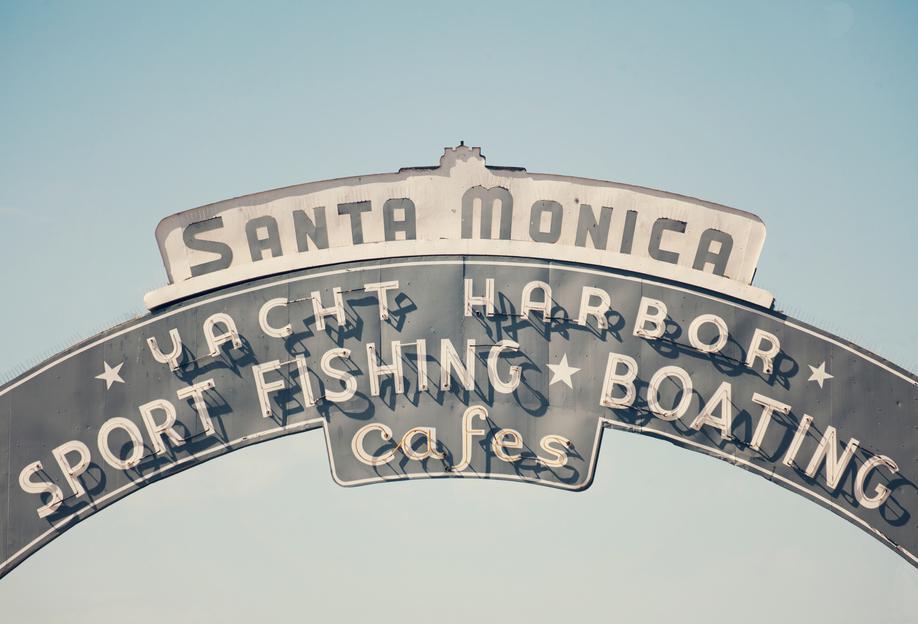 Santa Monica -Acrylglasbild