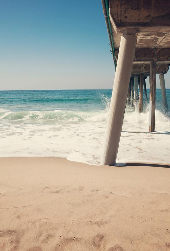 Hermosa Beach Pier -Acrylglasbild