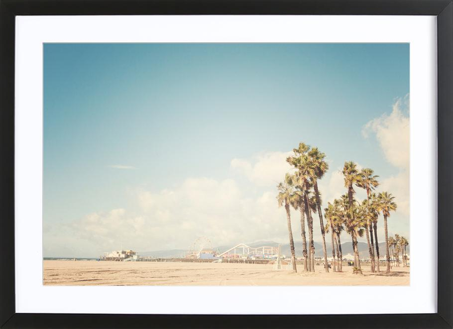Santa Monica -Bild mit Holzrahmen