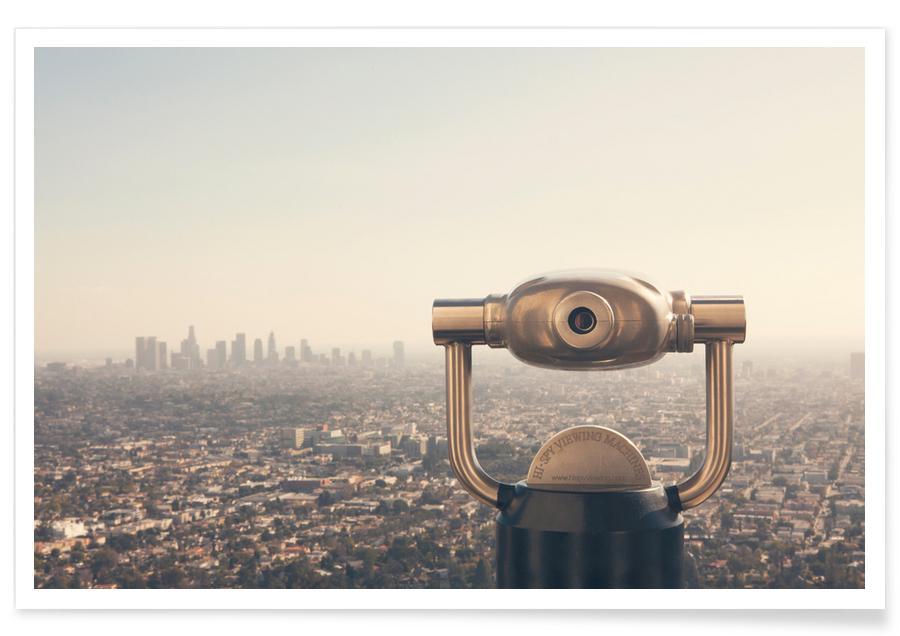 La vue de Los Angeles - Photographie affiche