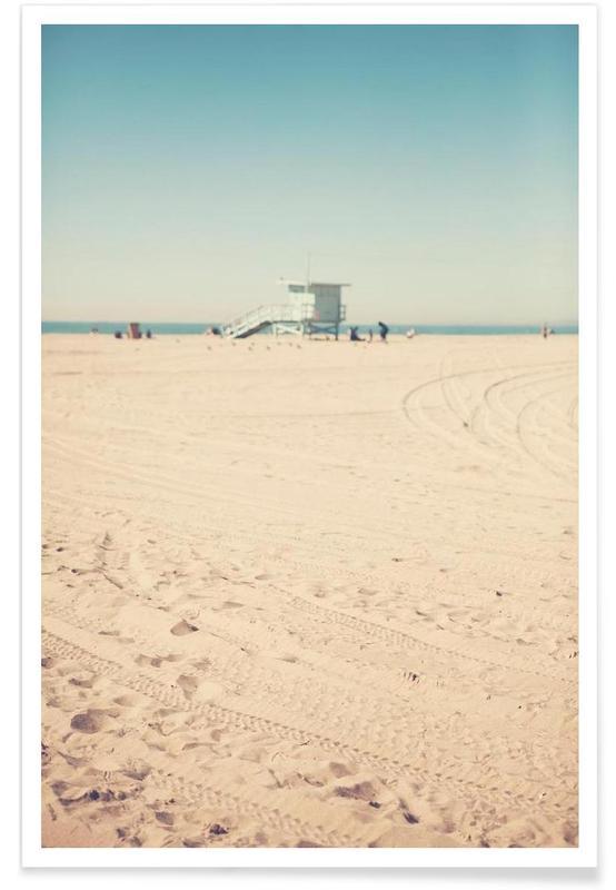 Santa Monica-Strandhütte-Fotografie -Poster