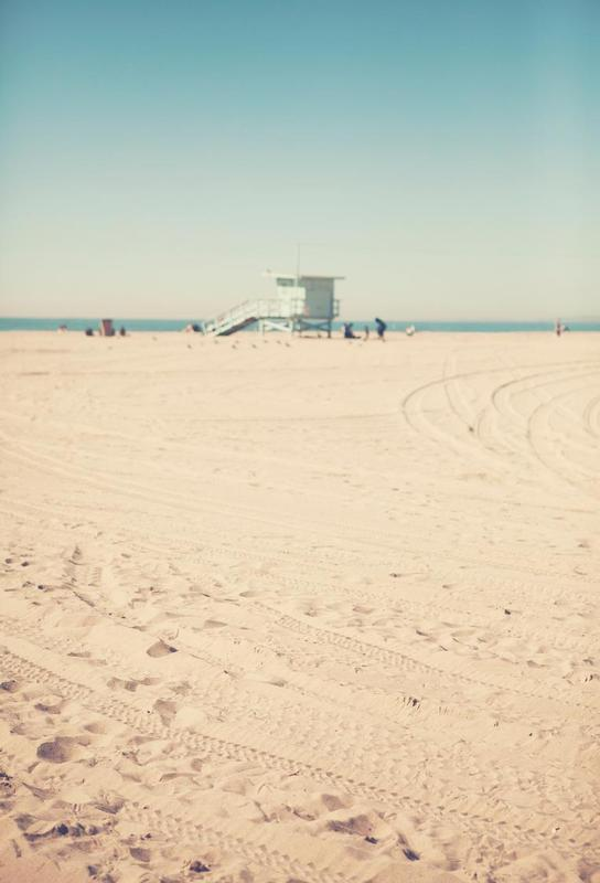 Santa Monica Beach Hut -Acrylglasbild