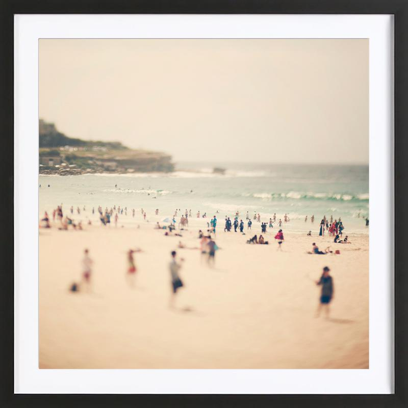 Bondi Beach -Bild mit Holzrahmen